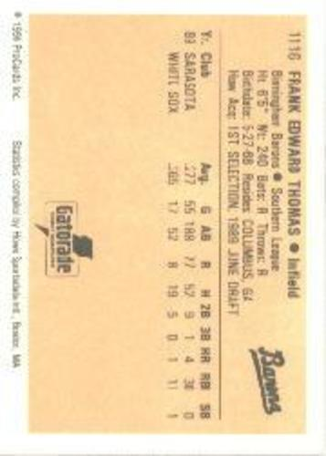 Photo of 1990 ProCards A and AA #46 Frank Thomas