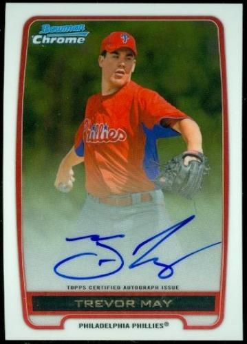 Photo of 2012 Bowman Chrome Prospect Autographs #TM Trevor May