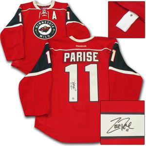 Zach Parise Autographed Minnesota Wild Authentic Pro Jersey