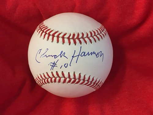 Photo of Chuck Harmon Autographed Baseball