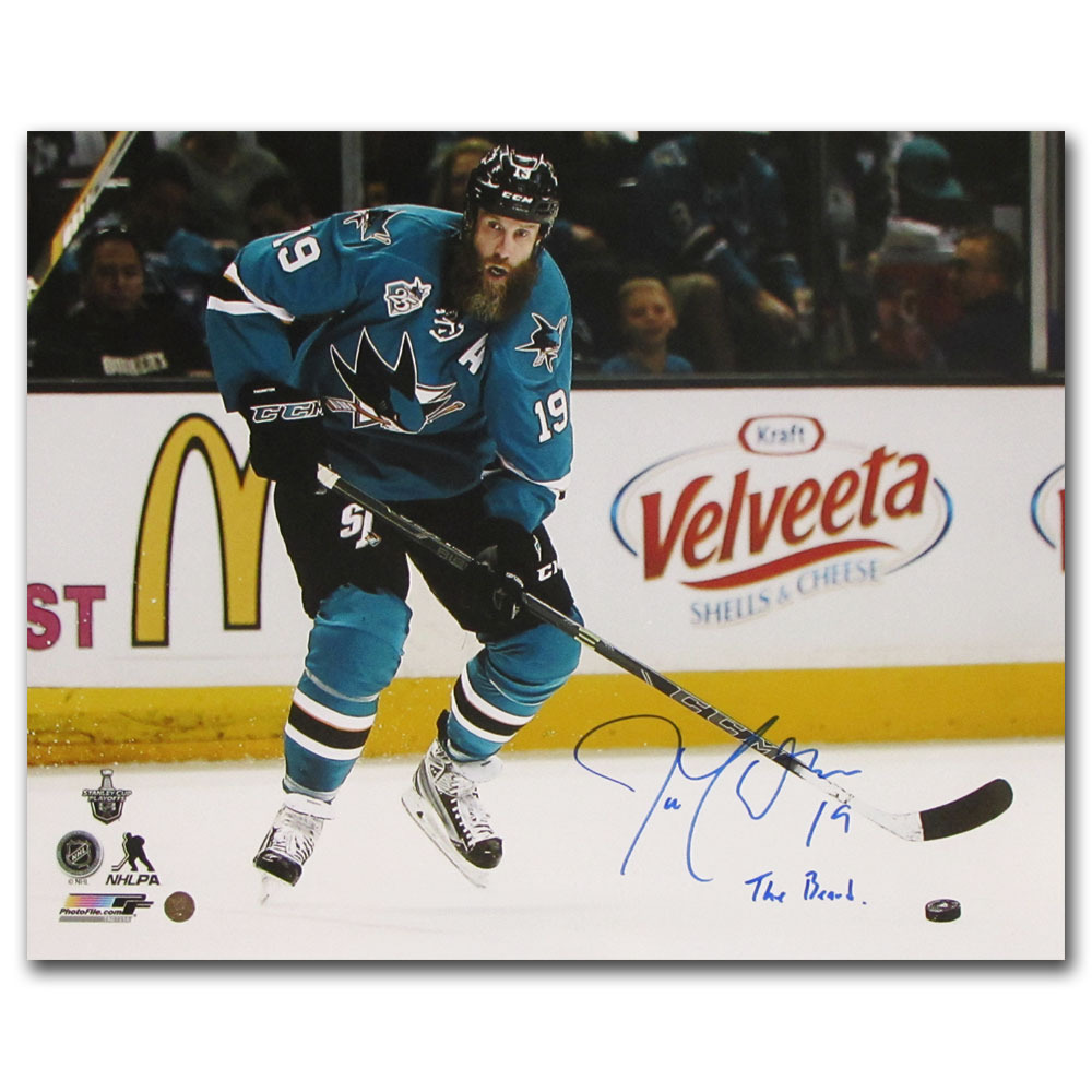 Joe Thornton Autographed San Jose Sharks 16X20 Photo w/THE BEARD Inscription