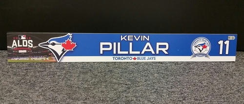 Photo of Authenticated Game Used 2016 ALDS Game 3 Locker Tag - #11 Kevin Pillar