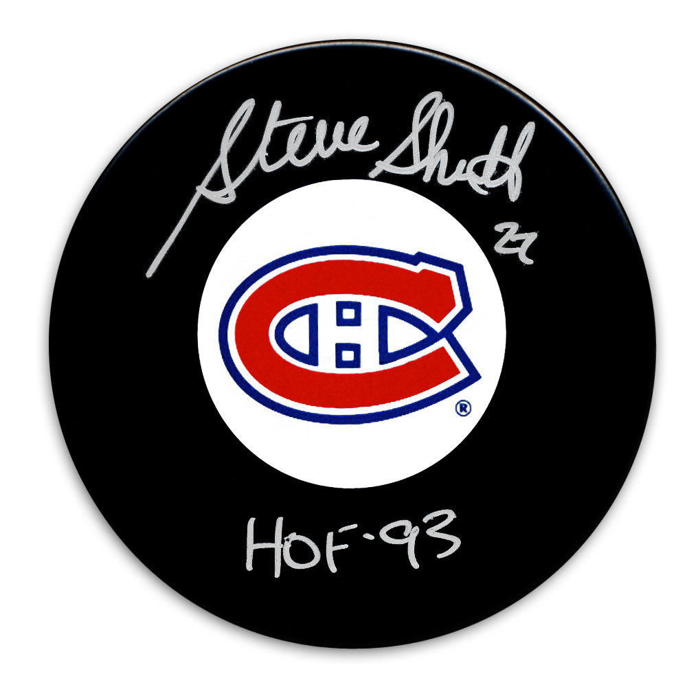 Steve Shutt Montreal Canadiens HOF Autographed Puck