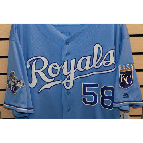 Photo of Game-Used Dave Eiland Jersey (Size 48) (9/19/16 CWS @ KC)