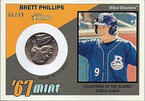 Photo of 2016 Topps Heritage Minors '67 Mint Relics #67MBP Brett Phillips