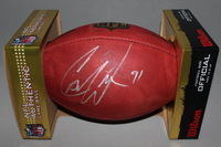 NFL - DOLPHINS CAMERON WAKE SIGNED AUTHENTIC FOOTBALL (SMUDGED SIGNATURE)