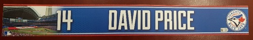 Photo of Authenticated Game Used Locker Name Plate - #14 David Price (2015 Season)