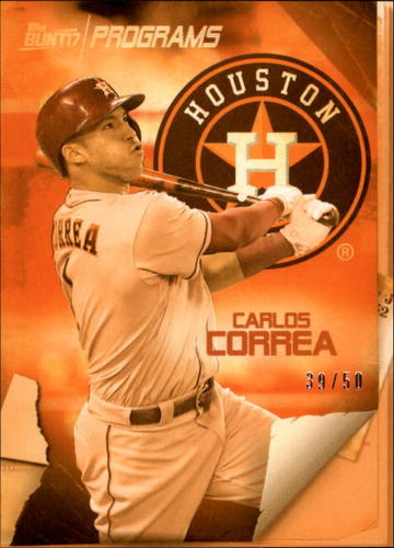 Photo of 2017 Topps Bunt Programs Orange #PRCC Carlos Correa 39/50