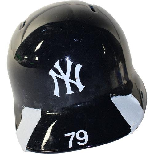 Photo of New York Yankees 2017 Team-Issued #79 Helmet (Home)