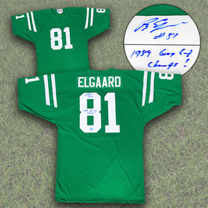 Ray Elgaard Saskatchewan Roughriders Autographed Custom CFL Football Jersey