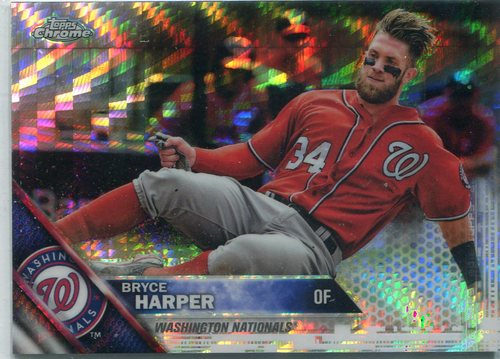 Photo of 2016 Topps Chrome Prism Refractors #200 Bryce Harper -- Nationals post-season