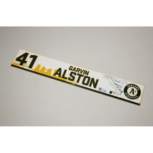Garvin Alston 2017 Home Clubhouse Locker Nameplate