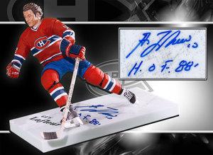 Guy Lafleur Montreal Canadiens HOF Autographed McFarlane Figurine