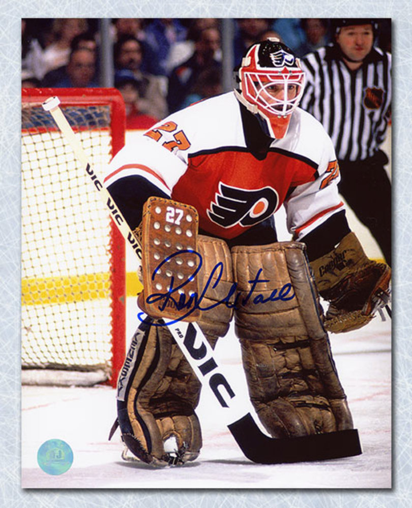 Ron Hextall Philadelphia Flyers Autographed In Goal 8x10 Photo