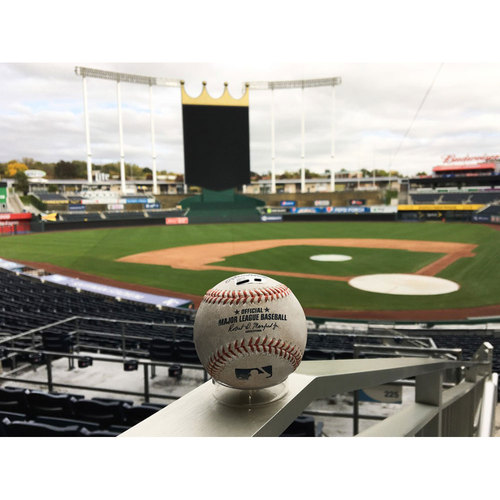 Photo of Carlos Santana (CLE) Game-Used Baseball (Double) (9/30/2016)