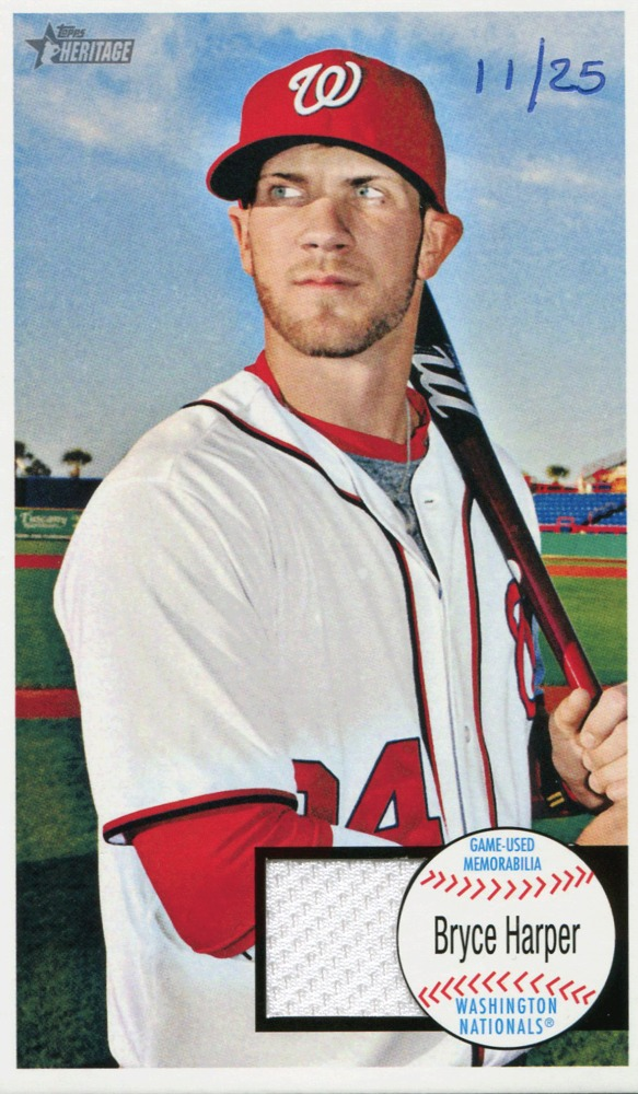 2013 Topps Heritage Giants Relics #BH Bryce Harper 11/25