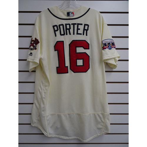 Photo of Bo Porter Game-Used Jersey Worn during the Final Game at Turner Field