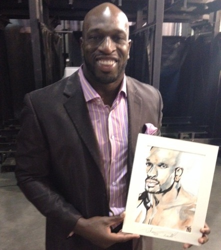 Titus O'Neil Signed Painting by Rob Schamberger