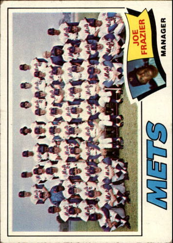 Photo of 1977 Topps #259 New York Mets CL/Joe Frazier MG
