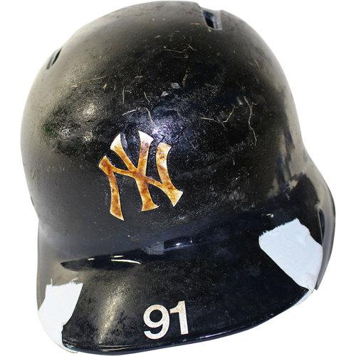 Photo of New York Yankees 2017 Team-Issued #91 Helmet (Home)