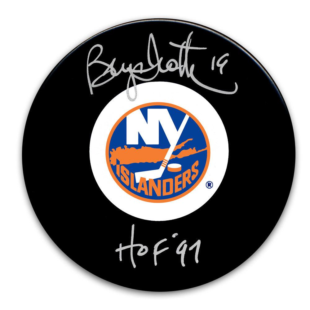 Bryan Trottier New York Islanders HOF Autographed Puck