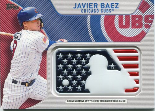 Photo of 2017 Topps Independence Day MLB Logo Patch #IDMLJB Javier Baez