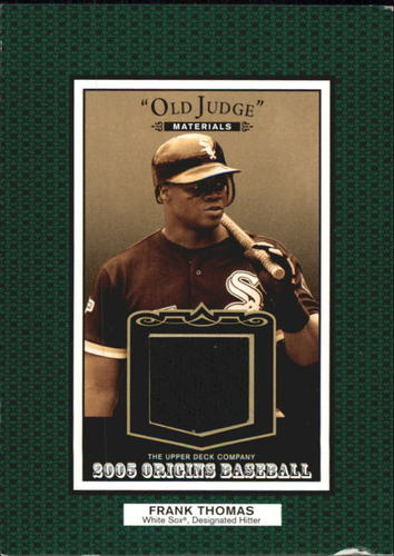 Photo of 2005 Origins Old Judge Materials Jersey #FT Frank Thomas
