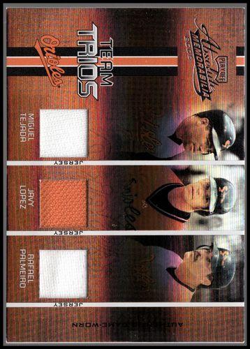 Photo of 2005 Absolute Memorabilia Team Trios Swatch Single Spectrum #3 Rafael Palmeiro Jsy/Miguel Tejada Jsy