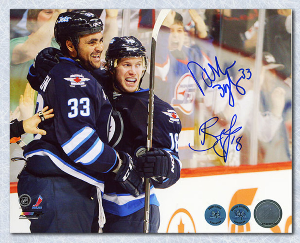 Dustin Byfuglien & Bryan Little Winnipeg Jets Dual-Autographed 8x10 Photo