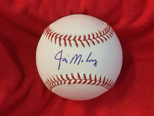 Photo of Jim Maloney Autographed Baseball