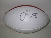 CHARGERS - JASON VERRETT SIGNED PANEL BALL (BLUE INK SMEAR ON PANEL)