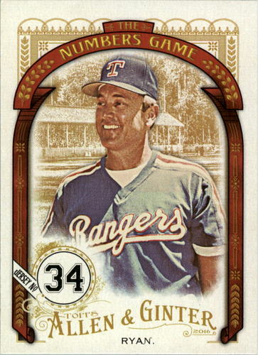 Photo of 2016 Topps Allen and Ginter The Numbers Game #NG9 Nolan Ryan
