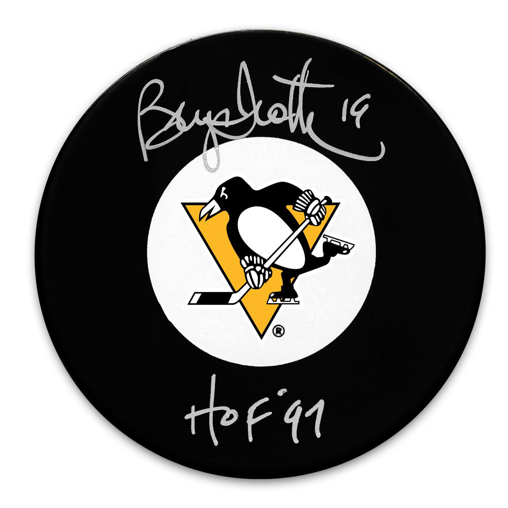 Bryan Trottier Pittsburgh Penguins HOF Autographed Puck