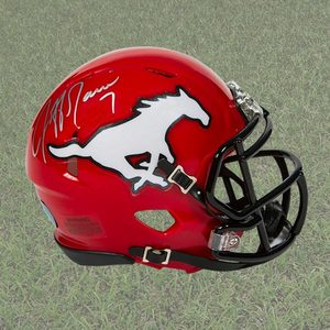 Jeff Garcia Calgary Stampeders Autographed Mini CFL Football Helmet