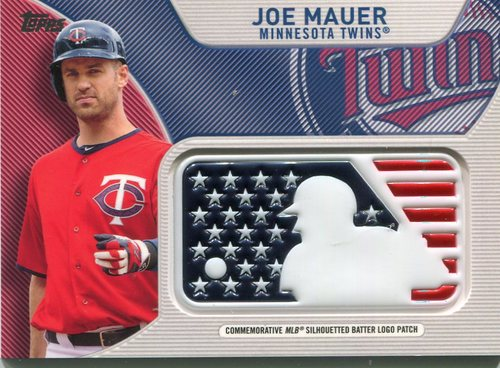 Photo of 2017 Topps Independence Day MLB Logo Patch #IDMLJM Joe Mauer