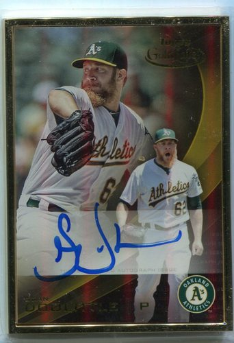 Photo of 2016 Topps Gold Label Autographs Gold Frame Sean Doolittle -- Nationals post-season