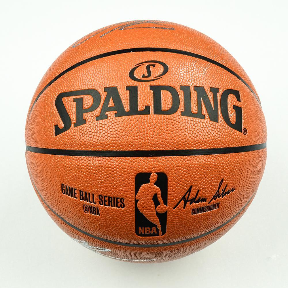Mikal Bridges, Donte DiVincenzo, Omari Spellman and Jalen Brunson - Villanova University Teammates - 2018 NBA Draft Class - Autographed Basketball