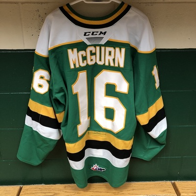 Sean McGurn 2019-2020 Green Game Jersey