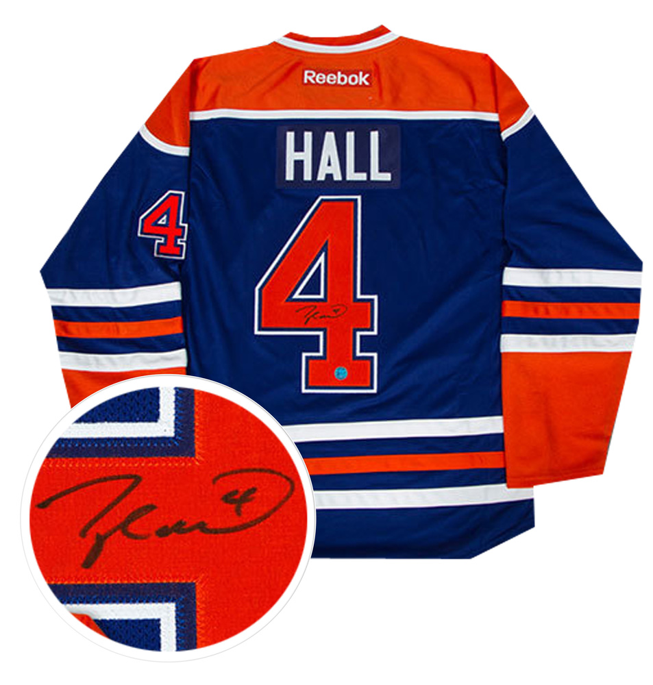 Taylor Hall - Signed Edmonton Oilers Blue Jersey