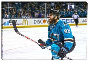 Brent Burns - 20x29 San Jose Sharks Celebration Canvas - 2016 Stanley Cup Playoffs