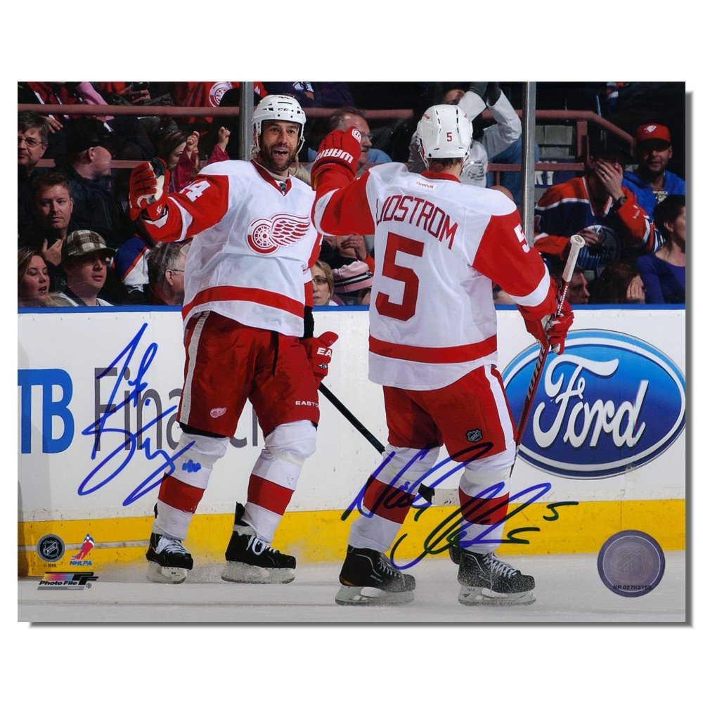 Nicklas Lidstrom and Todd Bertuzzi Autographed Detroit Red Wings 8x10 Photo