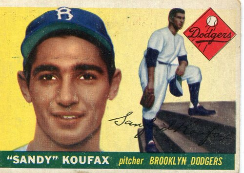 Photo of 1955 Topps #123 Sandy Koufax Rookie Card -- Dodgers Hall of Famer