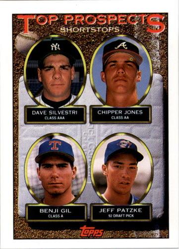 Photo of 1993 Topps #529 Dave Silvestri/Chipper Jones/Benji Gil/Jeff Patzke