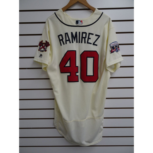 Photo of Horacio Ramirez Game-Used Jersey Worn during the Final Game at Turner Field
