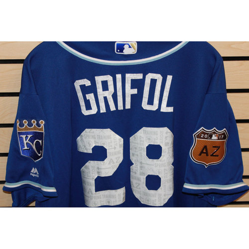 Photo of Game-Used Pedro Grifol Spring Training Jersey (Size 50) (4/14/17 LAA @ KC)