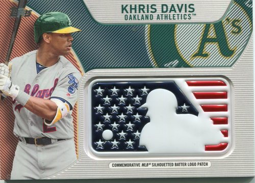 Photo of 2017 Topps Independence Day MLB Logo Patch #IDMLKD Khris Davis