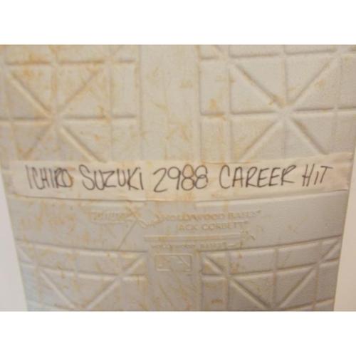 Game-Used Base: Ichiro Suzuki's 2,988th Career Hit