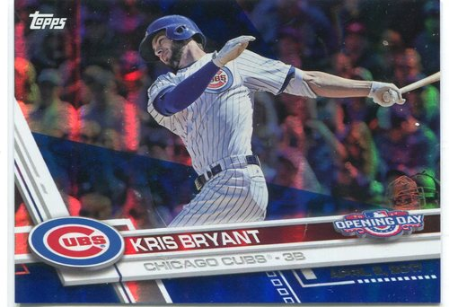 Photo of 2017 Topps Opening Day Blue Foil #1 Kris Bryant -- NLCS roster
