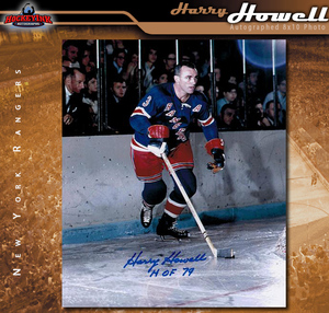 HARRY HOWELL Signed New York Rangers 8x10 Photo - 70465