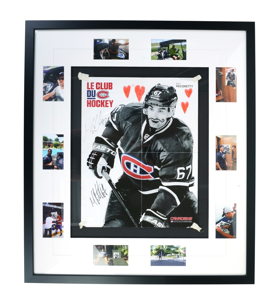 Affiche encadr e 32 x 37 et autographi e par mike weaver et max pacioretty mike weaver and for Poster et affiche